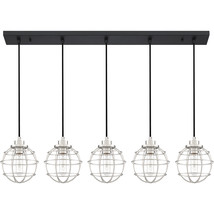 Navigator 5-Light Linear Chandelier in Earth Black - $559.99