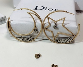 AUTHENTIC Christian Dior 2018 LIMITED EDITION J'ADIOR LARGE HOOP EARRINGS GOLD  image 5