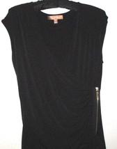 Ellen Tracy Black Side Zip Top Size S - $8.00