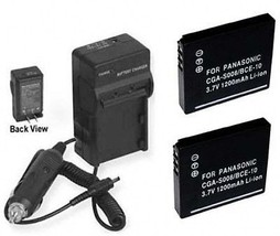 2 Batteries + Charger For Panasonic SDR-S15 SDR-S15P SDR-S15PC SDR-S25 SDR-S25A - $35.80