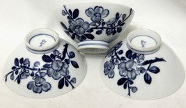 Japanese Hand Painted Apple Branch/Blossom Rice Bowl (set of 3) - $55.17
