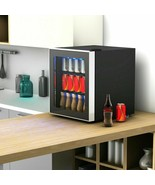 60 Can Beverage Mini Refrigerator with Glass Door - new (cy) - $280.16