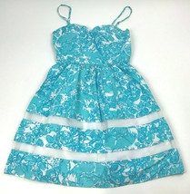 LILLY PULITZER Shorely Blue WOMEN She's A Fox Ollie 70695 Cocktail SUMME... - $33.48