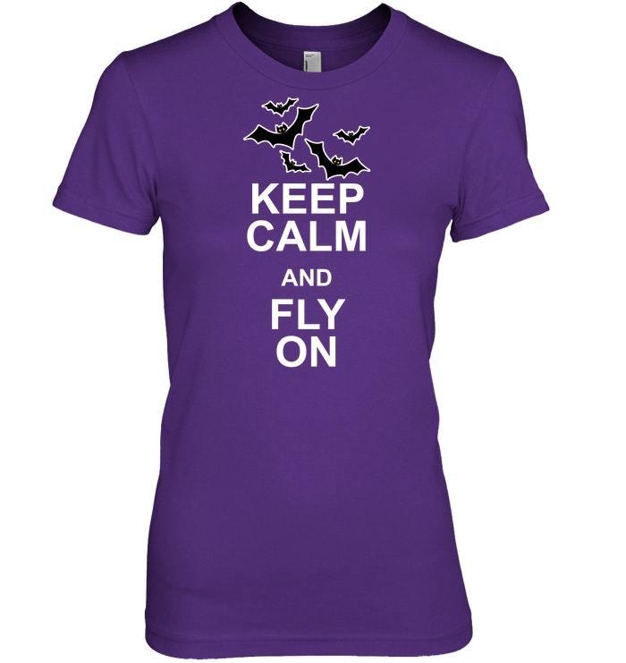 Funny Halloween Tshirt Keep Calm Vampire Bat Costume