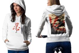 Japanese Ninja Womens White Classic Hoodie - $30.99+