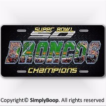 Denver BRONCOS NFL Super Bowl 50 Champions Football License Plate Tag New! - $12.82
