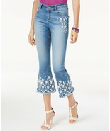 INC International Concepts I.N.C. Petite Embroidered Cropped Jeans 10P - $21.78