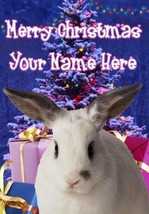 Rabbit 2 Merry Christmas Personalised Greeting Card Xmas codeXM214 - $3.93
