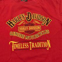 Harley Davidson Timeless Tradition Camicia Adulto Rosso Medio Maglietta Due Lati image 4