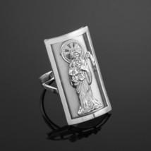 ARGENT STERLING Santa Muerte doigt complet CHIC BAGUE (3cm) - $39.98
