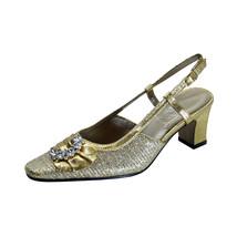 FLORAL Clea Women's Wide Width Dress Slingback Metallic Shoes - $39.95