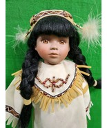 Vintage Native American Doll with Papoose ~ 16 Inches ~ Native Attire - $18.76
