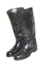 Vintage Georgia Men's Steel Toe Black Leather Riding Motorcycle Boot  8 ... - $175.42