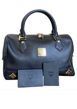 mcm boston bag Golden Studded - $387.00