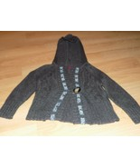 Girl's Size Medium Epic Threads Gray Grey Cropped Hooded Sweater Jacket ... - $18.00