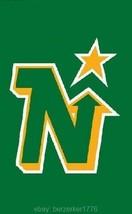 Minnesota North Stars NHL 3x5 Green Vertical Flag Banner  USA seller shipper - $25.00