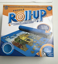 New Puzzle Roll Up Storage Mat 1,500 Jigsaw Pieces 24 X 42 Blue Telescope Tube - $19.31