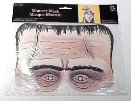 MINT 1980s Amscan Halloween Diecut Die Cut Scary Spooky Frankenstein Face Mask - $7.08