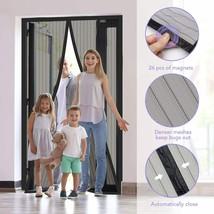 "Magnetic Screen Door Mesh with Super Tight Self Closing Fiberglass 39""W ... - $19.18"