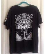 NWOT DAVE CHAPPELLE Black T-Shirt by Shepard Fairey 2014 Comedy Tour Sz L - $49.50