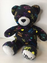 2012 Build a Bear Black Plush Multi Color Exclusive New York Scribble Gr... - $42.07