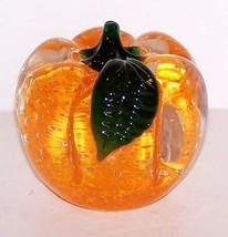 Beautiful Lenox Art Glass Pumpkin PAPERWEIGHT/SCULPTURE - $27.71
