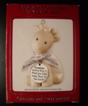 Carlton Cards Christmas Ornament 2009 Baby's Second Christmas Ceramic Bank Box  - $18.99