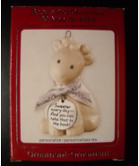Carlton Cards Christmas Ornament 2009 Baby's Second Christmas Ceramic Ba... - $18.99