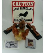 Dachshund Office Desk Lot Coaster Clock Tape Dispenser Sign Holder Stick... - $39.14