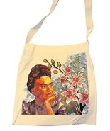 Frida Cotton Tote Market Bag Printed 16 SQ inch Folk Art Mexico Pouch Pu... - $9.85