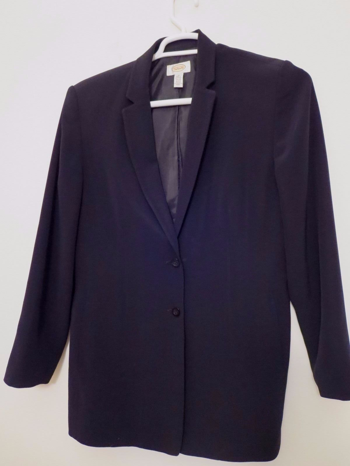 Talbots Women's Size 12 Two Button Black Blazer Excellent Condition High Quality