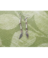 Handcrafted Pierced Earrings With Angel Wings With Beads - $6.00