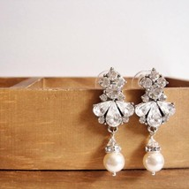 Chandelier Swarovski Pearl Earrings - $33.00