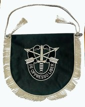 NEW US Army Special Forces DE OPPRESSO LIBER TABLE WALL FLAG BLACK - CP ... - $34.00