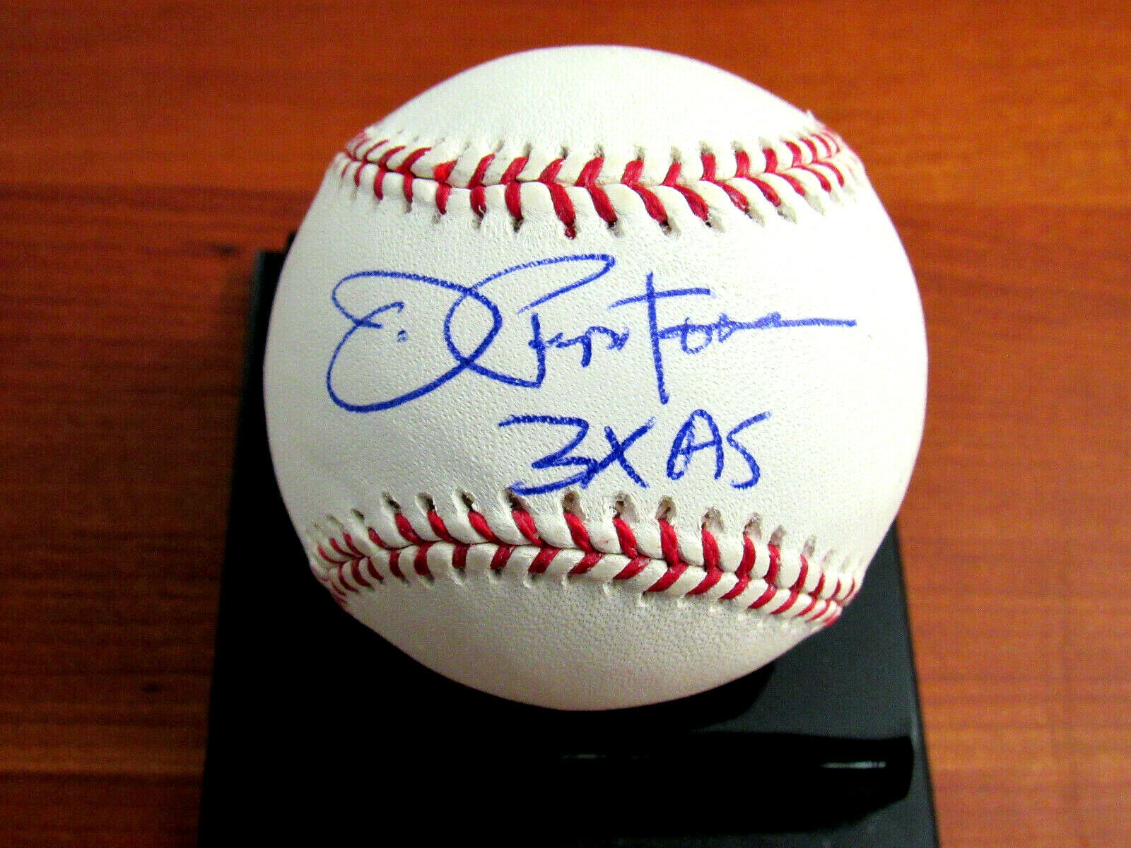 Primary image for JOE PEPITONE 3 X ALL-STAR NY YANKEES CUBS SIGNED AUTO BASEBALL TRISTAR PLATINUM