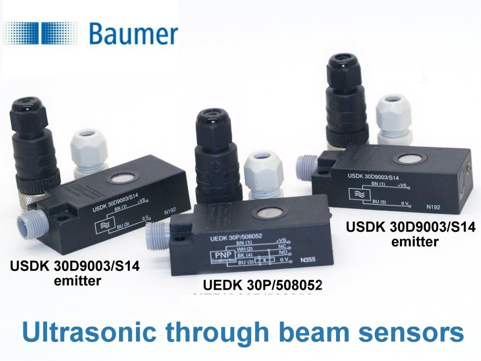 ⭐baumer Uedk 30p 508052 And Usdk 30d9003 S14 Ultrasonic