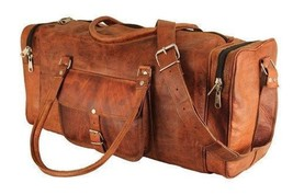 New Men's Genuine Vintage Soft Leather Luggage Gym Weekend Overnight Duf... - $74.87