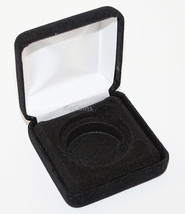 Lot of 5 Black Felt COIN DISPLAY GIFT METAL BOX holds 1-IKE or Silver Ea... - £23.45 GBP