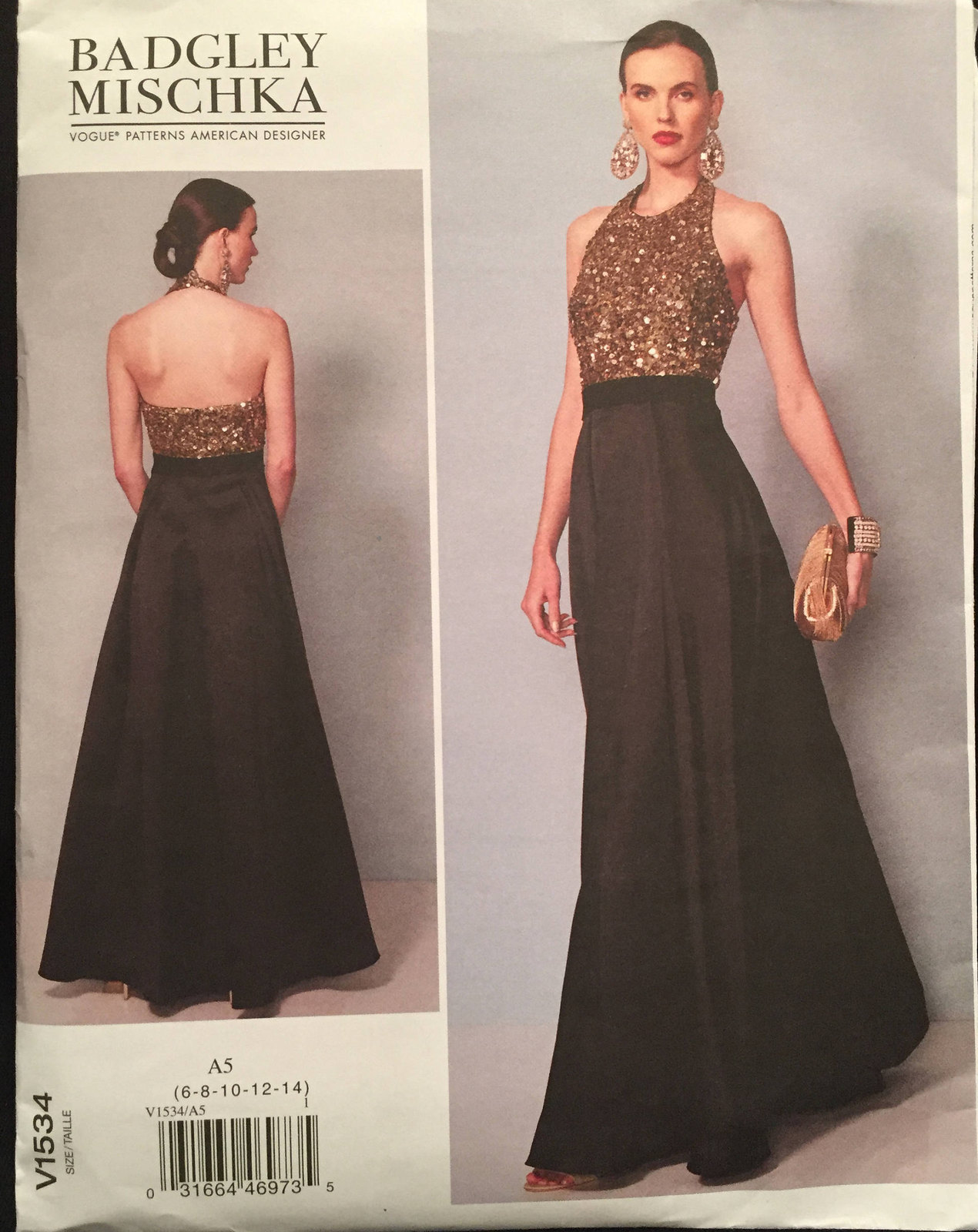3d966e28f1b5c Vogue Designer Badgley Mischka V1534 Halter and 50 similar items