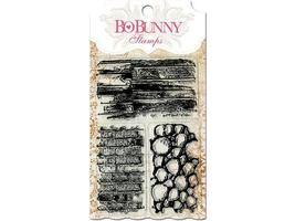 Bo Bunny Wall to Wall Textures 3 Pc Clear Stamp Set #10105763