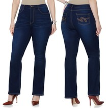Diane Gilman SuperStretch Boot-Cut Jean Back Pocket Indigo 8 Tall NEW 46... - $21.75