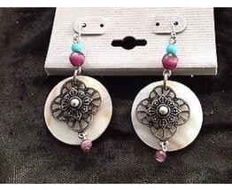 beautiful dangling beaded pierced earrings  - $19.99