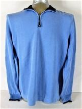NAUTICA MENS  XL  LONG SLEEVE BLUE 100% COTTON 1/4 ZIP NECK SWEATER (S) - $29.27
