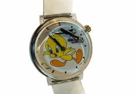 Tweety Bird Watch Sylvester Cat Clock Hand wristwatch vtg Looney Tunes W... - $49.45