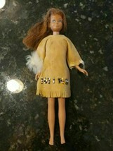 "VINTAGE SKIPPER Brown Hair Straight Leg 1963 Mattel Doll 9"" Buckskin Dre... - $49.28"