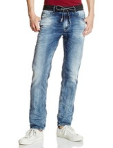 NEW DIESEL MEN'S PREMIUM DESIGNER DENIM SWEAT JOGGER STRETCH JEANS WAYKE... - $199.45