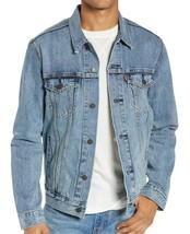 Levi's Men's Cotton Button Up Denim Jeans Trucker Jacket Light Blue 723340232 image 2
