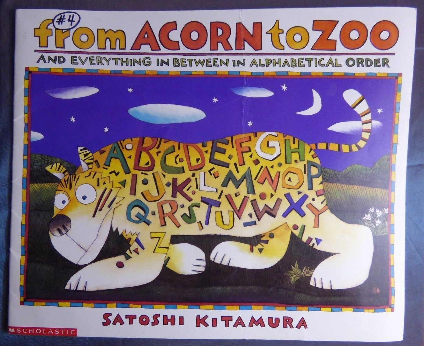 Scholastic from Acorn to Zoo 1992 Paperback BIG Book 19.5 INCHES Across Class