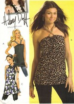 Misses Hilary Duff Summer Stretch Knit Strap Halter Top Tunic Sew Pattern 4-12 - $12.99