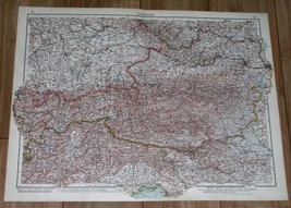 1937 ORIGINAL VINTAGE MAP OF AUSTRIA BEFORE ANSCHLUSS / VIENNA WIEN - $31.68